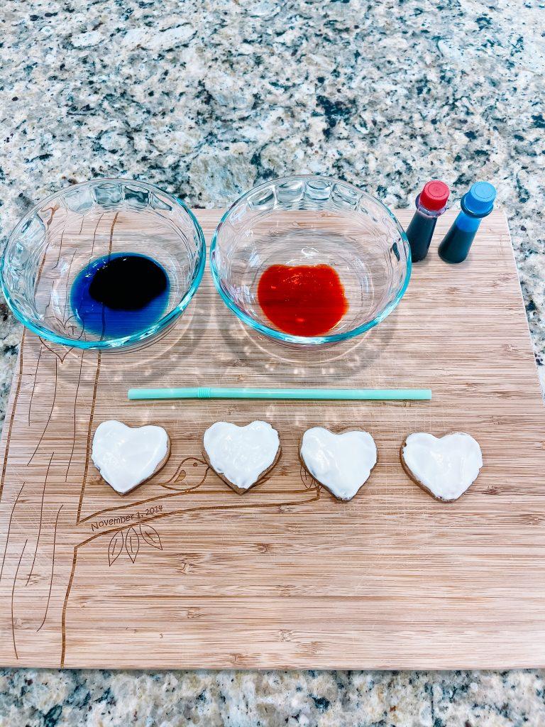 splatter watercolor cookies