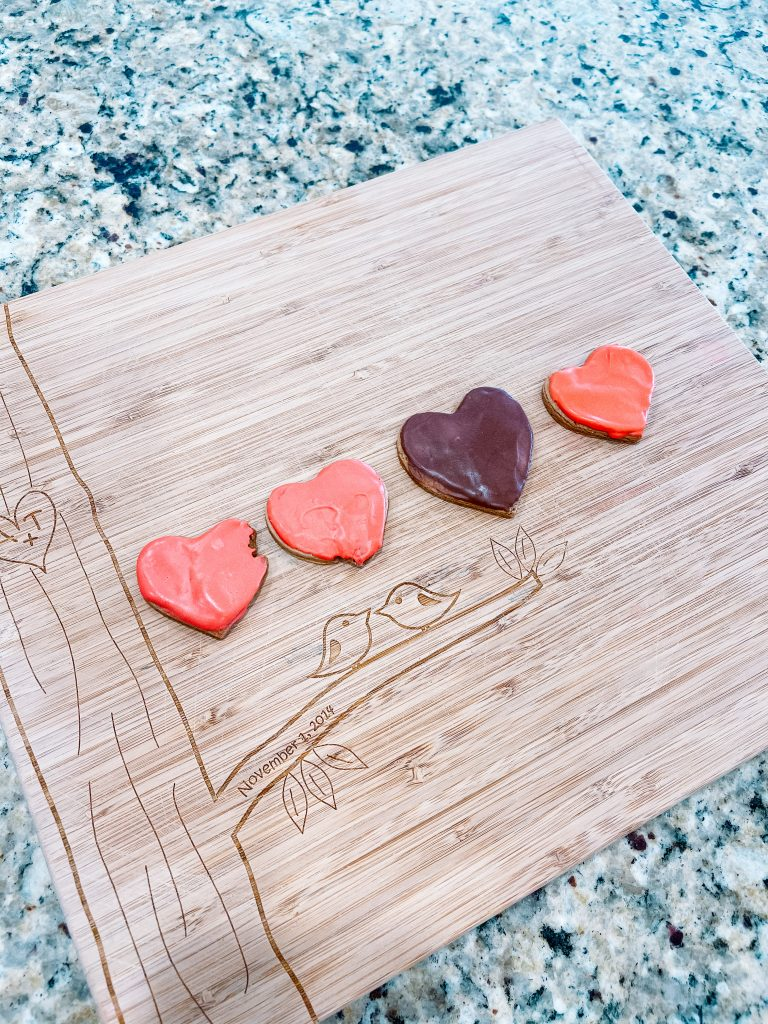 pink frosted heart shaped cookies